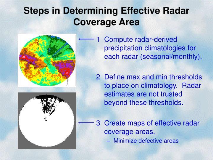 Steps in Determining Effective Radar Coverage Area