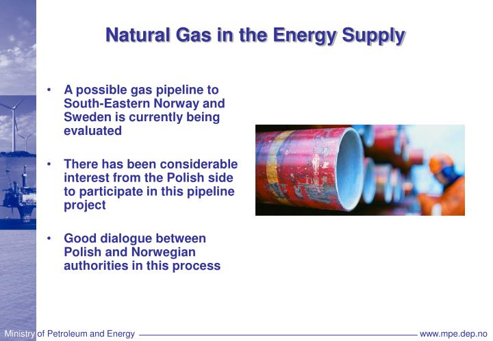 Natural Gas in the Energy Supply