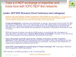 task 4 4 ncp exchange of expertise and know how with icpc ncp like networks