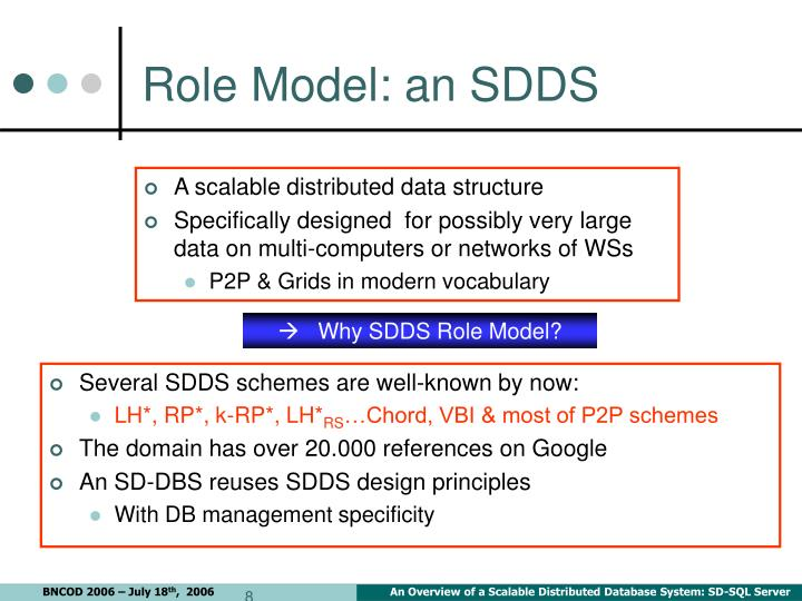 Role Model: an SDDS