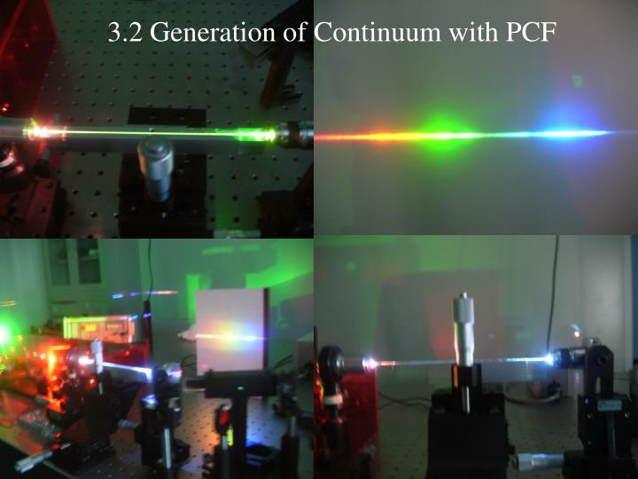 3.2 Generation of Continuum with PCF