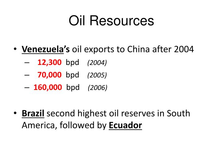 Oil Resources