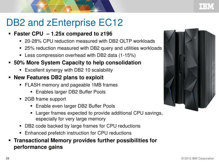 DB2 and zEnterprise EC12