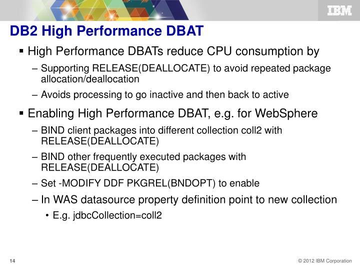 DB2 High Performance DBAT