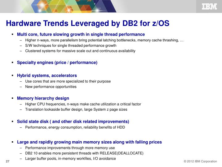 Hardware Trends Leveraged by DB2 for z/OS