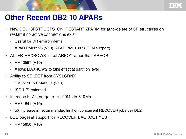 Other Recent DB2 10 APARs