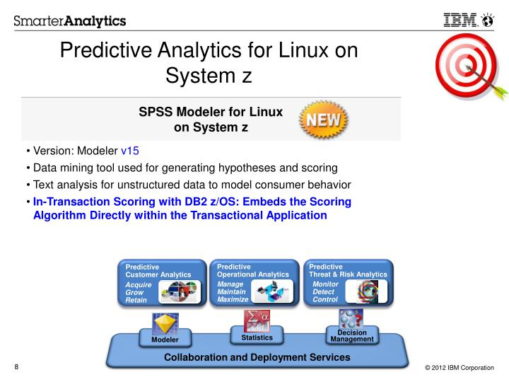 Predictive Analytics for Linux on System z
