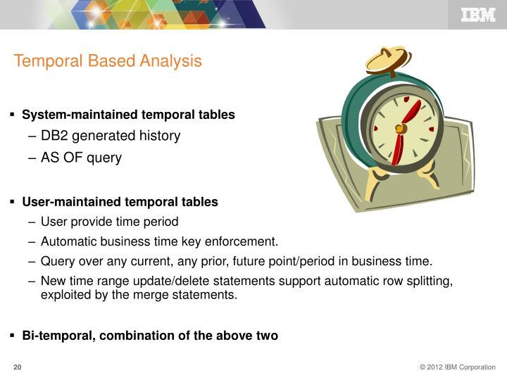 Temporal Based Analysis