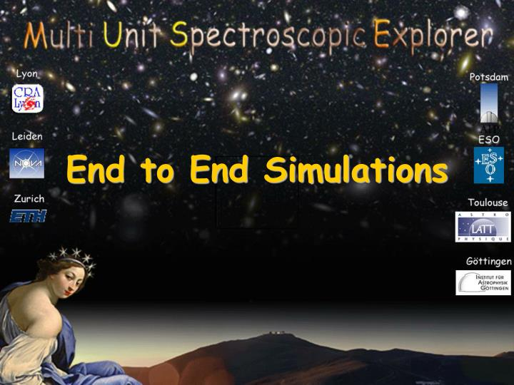 end to end simulations n.
