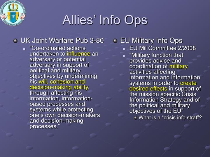 UK Joint Warfare Pub 3-80