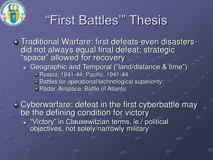 """First Battles'"" Thesis"