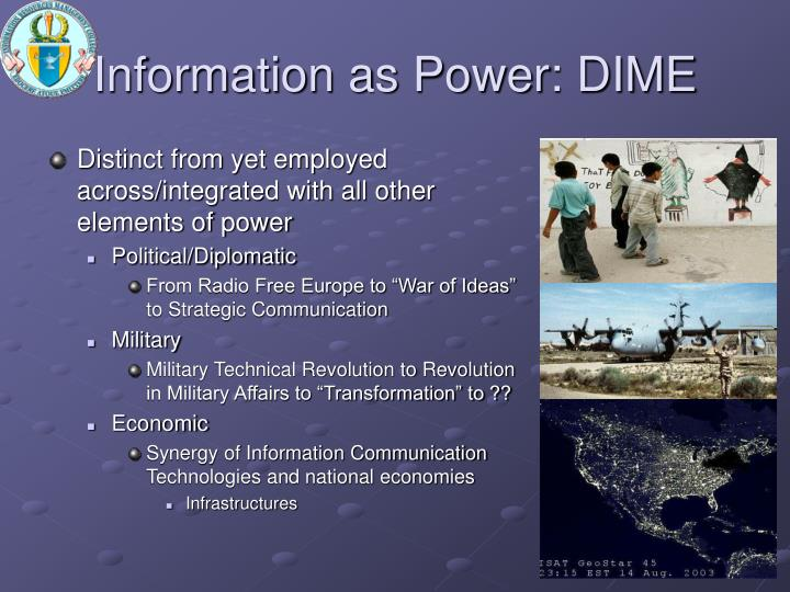 Information as Power: DIME