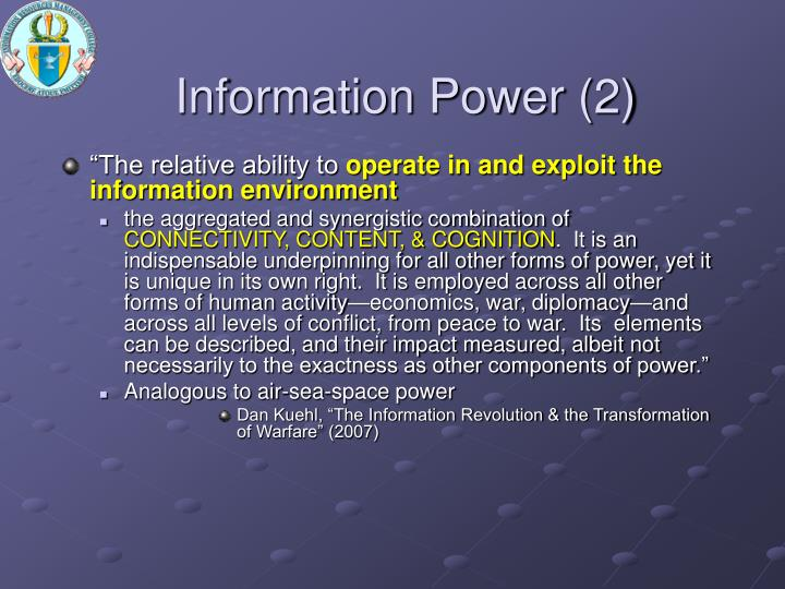 Information Power (2)