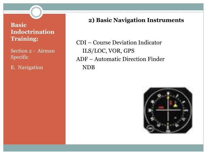 2) Basic Navigation Instruments