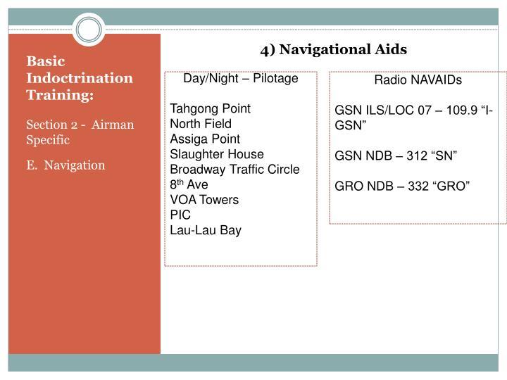 4) Navigational Aids