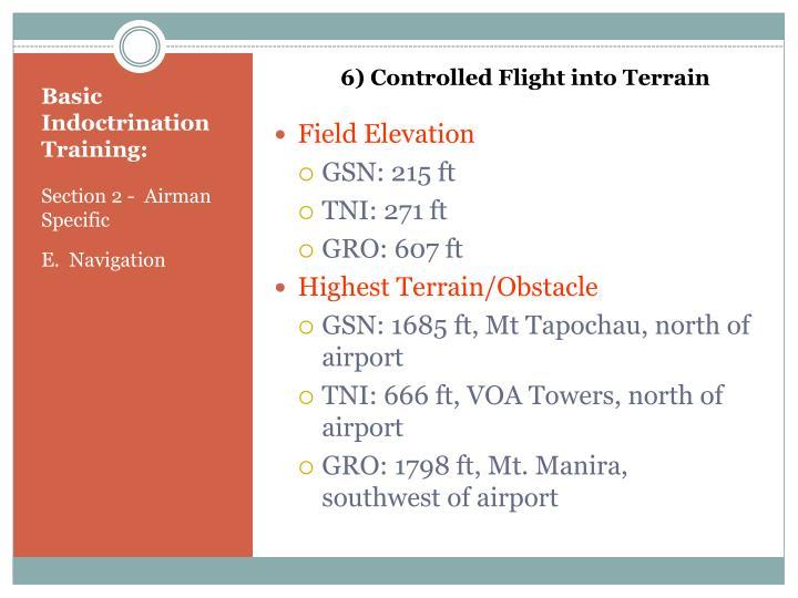6) Controlled Flight into Terrain