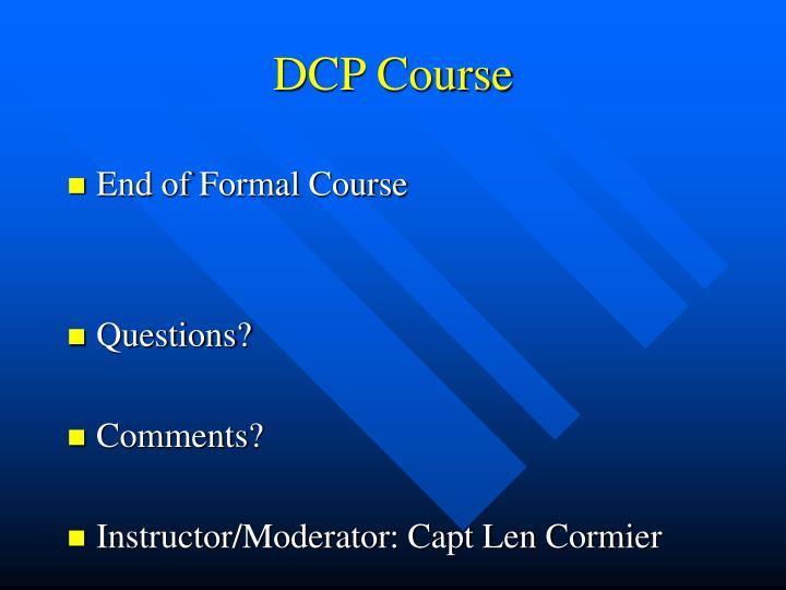 DCP Course