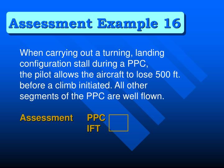 Assessment Example 16