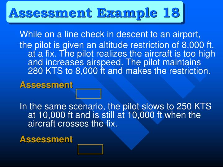 Assessment Example 18