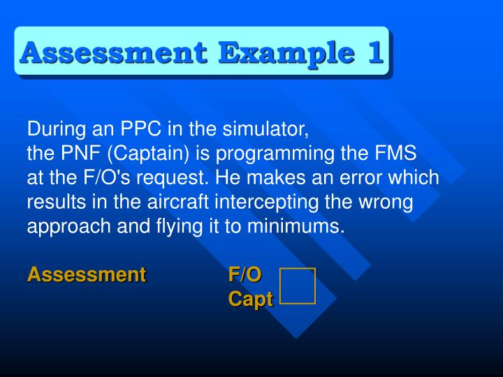 Assessment Example 1