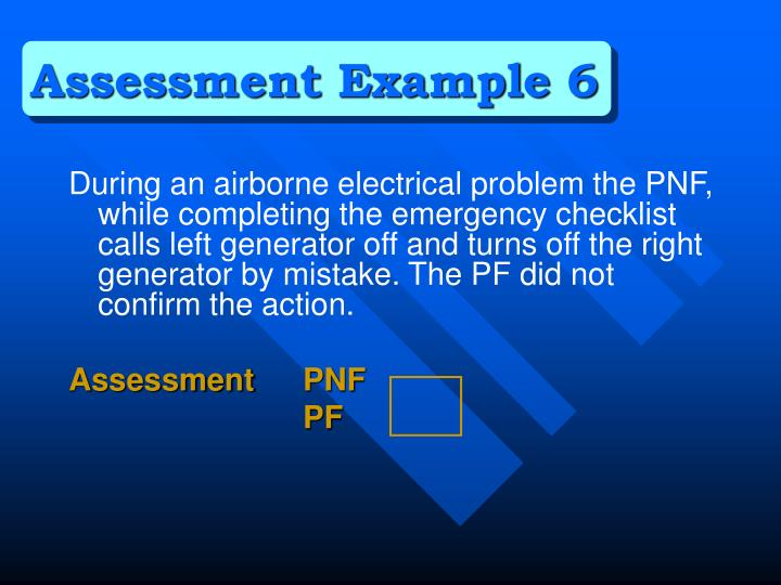 Assessment Example 6