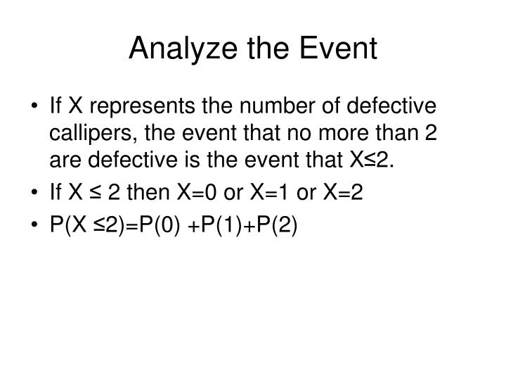 Analyze the Event