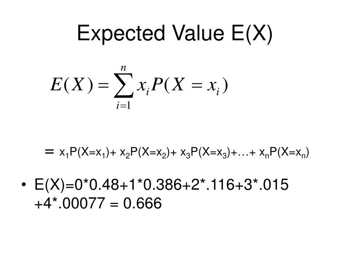 Expected Value E(X)