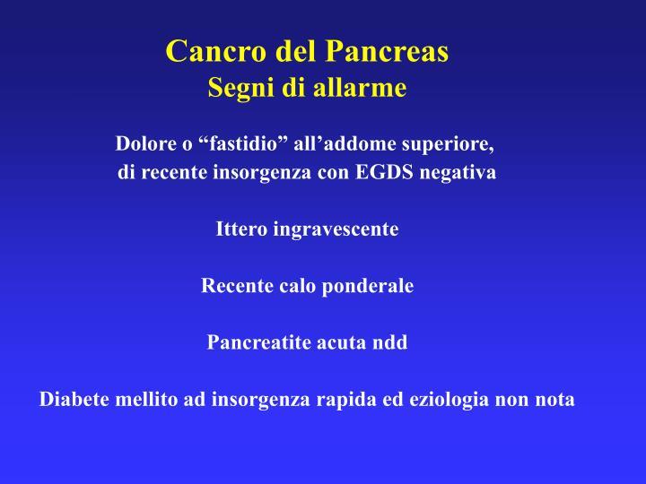 Cancro del Pancreas