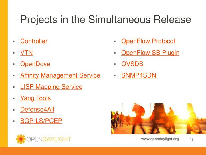 Projects in the Simultaneous Release