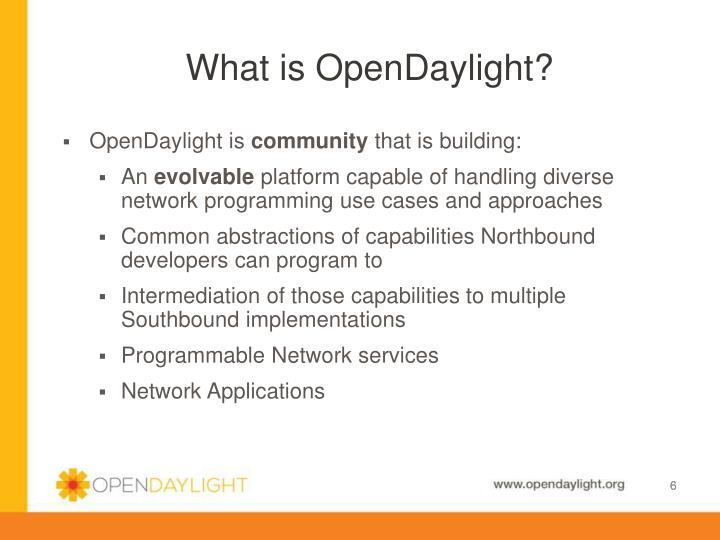 What is OpenDaylight?