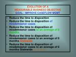 evolution of a measurable business objective goal improve caseflow mgmt