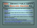 goal enhance public safety some measurable objectives are