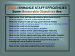 goal enhance staff efficiencies some measurable objectives are