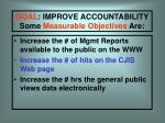 goal improve accountability some measurable objectives are