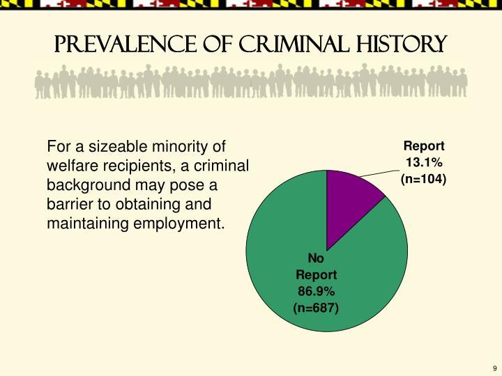 Prevalence of criminal history