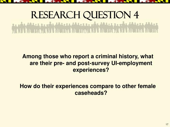 Research question 4