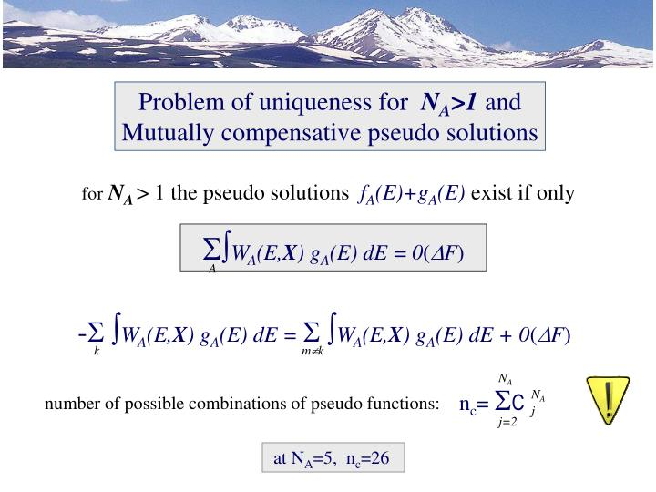 Problem of uniqueness for