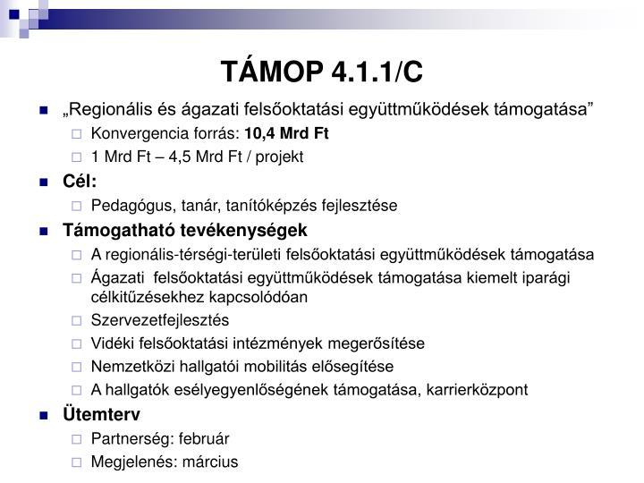 TÁMOP 4.1.1/C