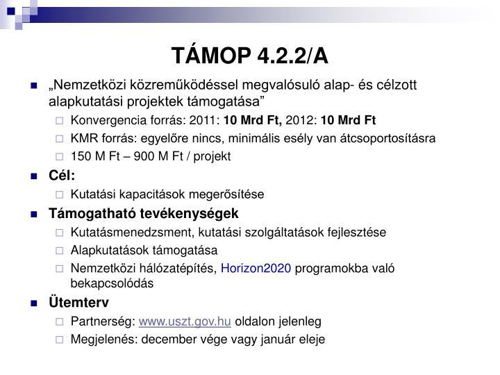 TÁMOP 4.2.2/A