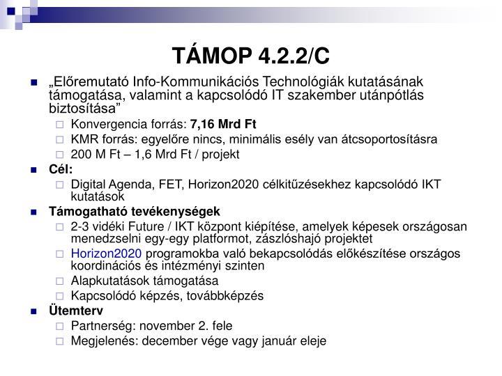 TÁMOP 4.2.2/C