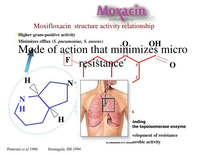 Moxifloxacin  structure activity relationship