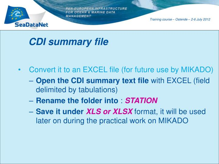 CDI summary file