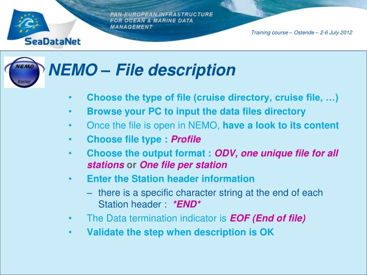 NEMO – File description