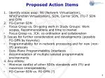 proposed action items