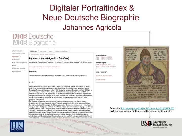 Digitaler Portraitindex &