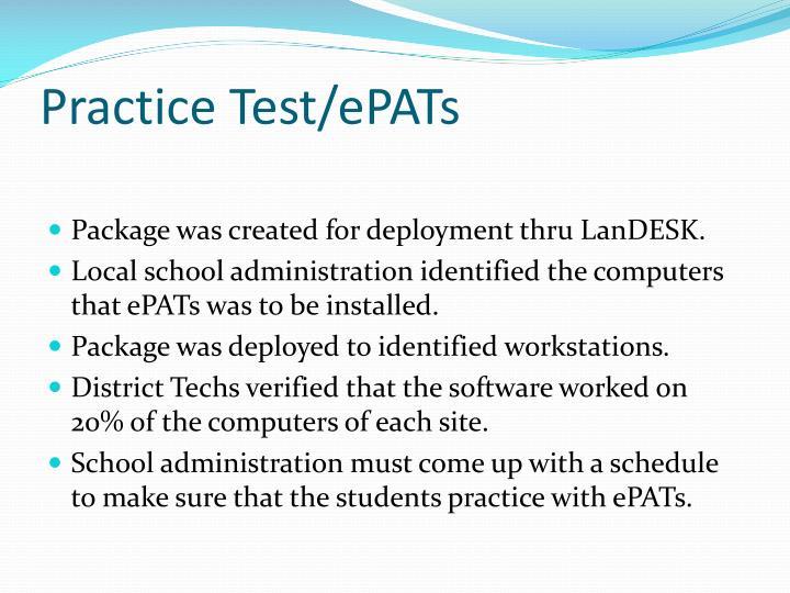 Practice Test/ePATs