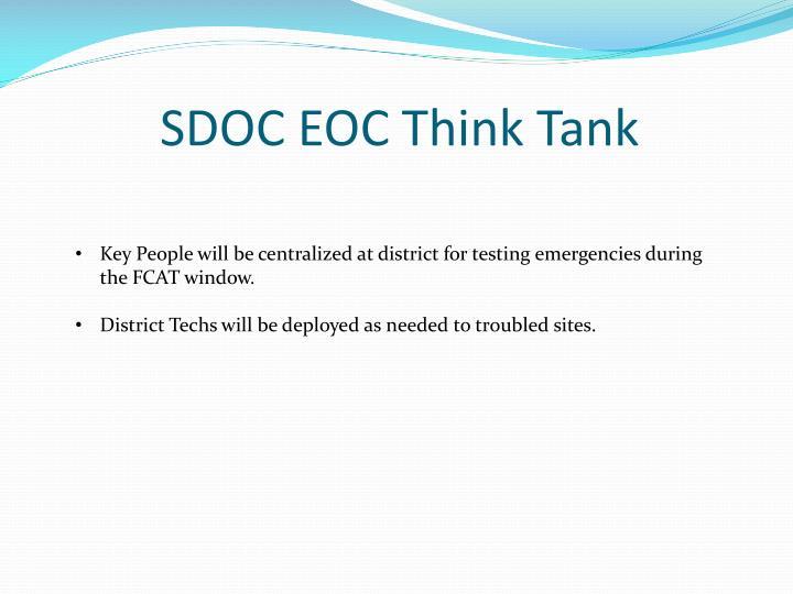 SDOC EOC Think Tank