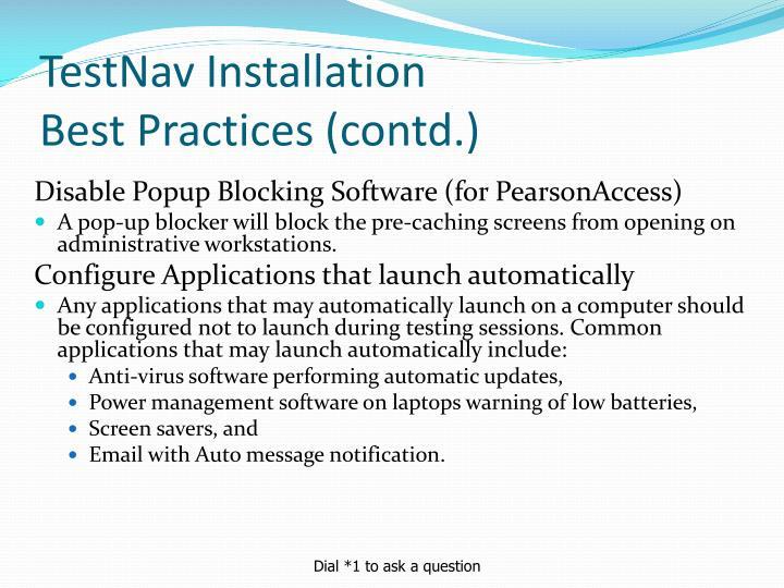 TestNav Installation