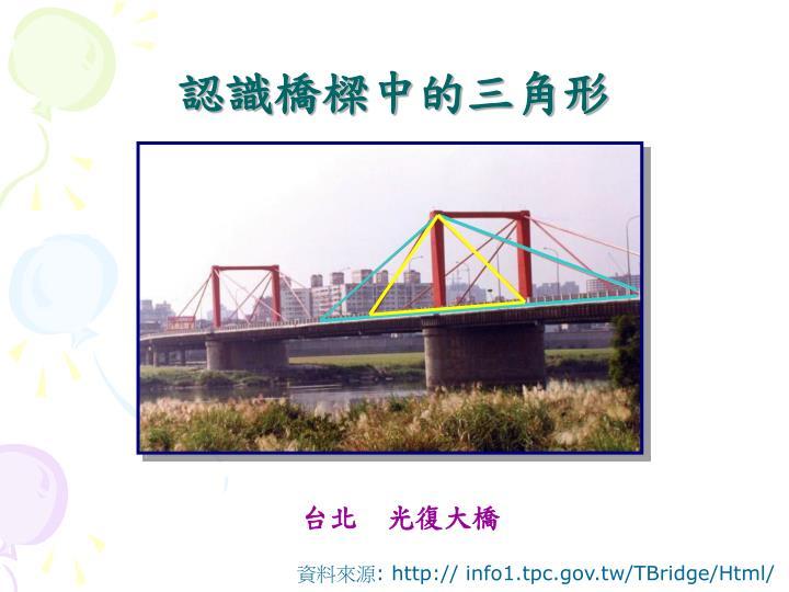 認識橋樑中的三角形