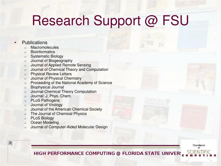 Research Support @ FSU
